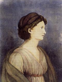 Karoline von Günderode (1780-1806), peinture anonyme, vers 1800