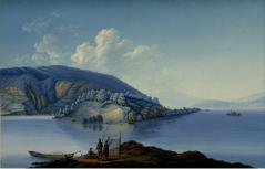 le lac de Bienne par Hartmann - musée JJ Rousseau - Montmorency