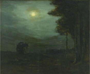 Charles Warren Eaton - Moonlit Forest , 1900