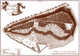 plan de l'île - gravure de Sigmund von Wagner