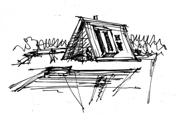 A-frame house à Fire Island (NY) - Bromley Caldari Architects