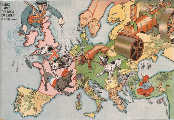 L'Europe en 1914 - Alerte ! les chiens aboient !