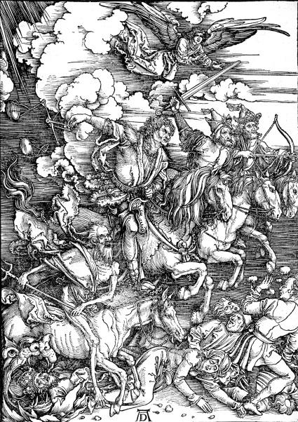 Albrecht Dürer - Les quatres cavaliers de l'Apocalypse, 1498