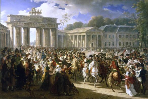 Charles Meynier - Napoleon entre à Berlin à la tête de ses troupes
