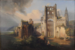 COLLINET Henri-Alexandre (1860-1905). Ruines de l'abbaye de Jumièges