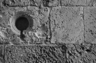 détail d'un mur de pierre (Italie)