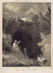 Fragonard - ruines du cloître de Jumièges, 1820 VPRAF vol.1 pl.9