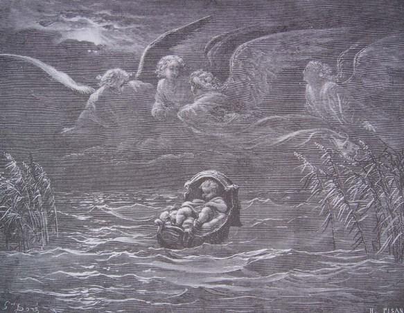 Gustave Doré - Moïse exposé sur le Nil