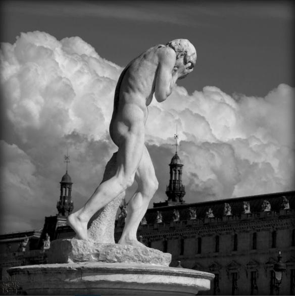 Henri Vidal - Caïn vennat de tuer son frère Abel, 1896 - jardin des Tuileries - photo Lalie Sorbet