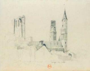 Hyppolyte Detailleur - l'Abbaye de Jumièges, 1849