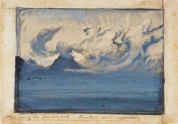 John Ruskin - Nuages d'orage dans le Val d'Aoste,
