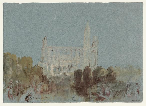 Jumi?ges Abbey, Normandy c.1832 by Joseph Mallord William Turner 1775-1851