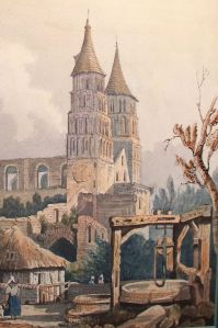 Jumièges Abbey. as painted by John Sell Cotman In 1818