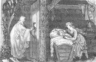la Mort et l'enfant malade