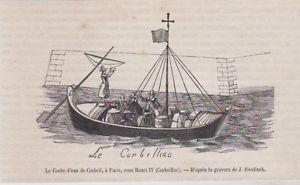 le coche d'eau à Corbeil sous Henri IV