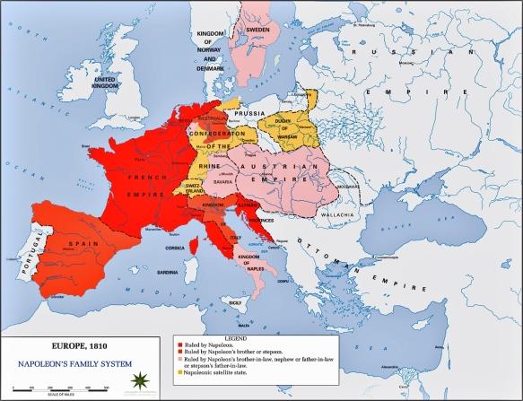 l'Europe napoléonnienne en 1810