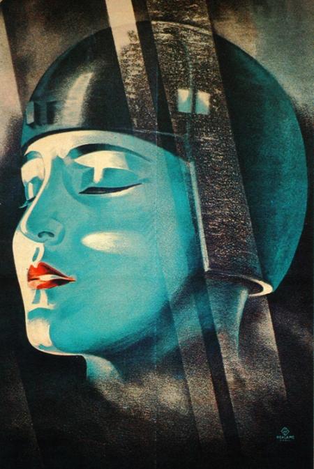 Metropolis Affiche de film de Werner Graul (1927) ( via )