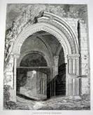 Plate abbaye de Jumièges. Arc sur le front Ouest