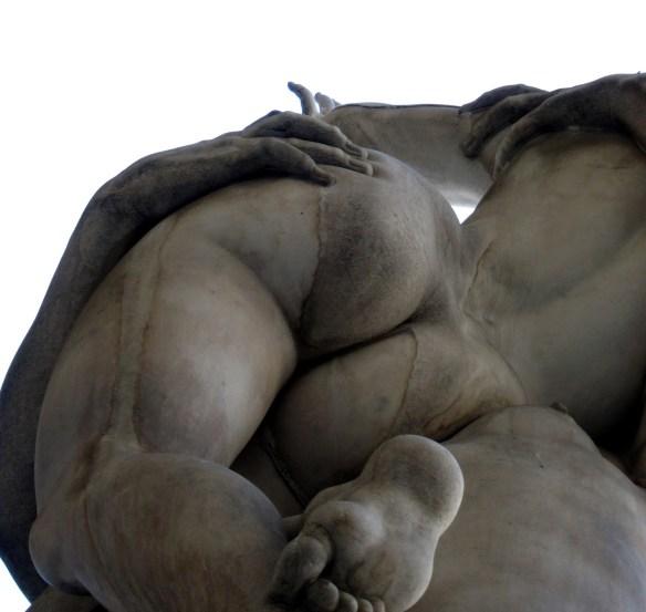 Viol des Femmes sabine de Giambologna, de la Piazza della Signoria à Florence