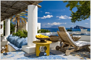 The Drinks Terrace on the most beautiful house in Panarea