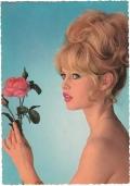 Brigitte Bardot - carte postale allemande Krüger - photo Sam Lévin