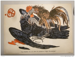 Coq Gaulois,tu es le Droit, tu écraseras l´ Aigle Germanique, 1914-1918
