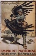 le coq gaulois terrassant l'aigle allemand