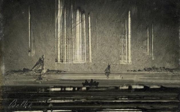 Peder Balke - Aurores boéales, vers 1870