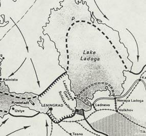Siège de Léningrad - Carte du front