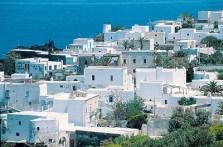 un village de l'île de Stromboli