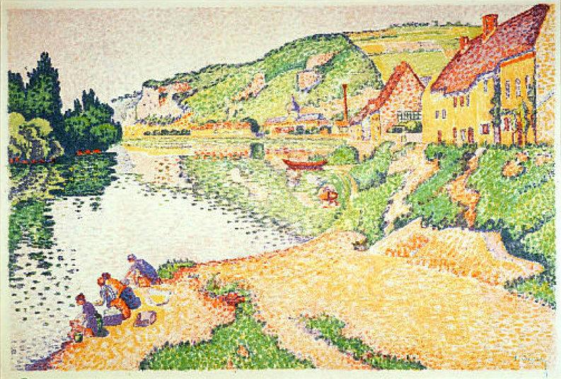 Paul Signac - Les Andelys, les laveuses, 1886-1887