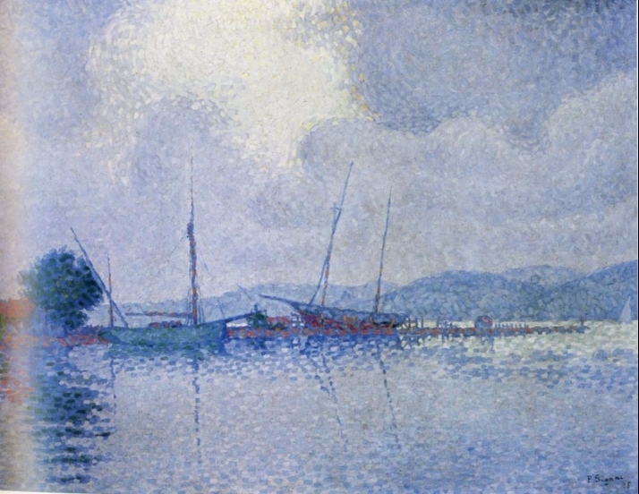 Paul Signac - saint-Tropez après l'orage, 1895
