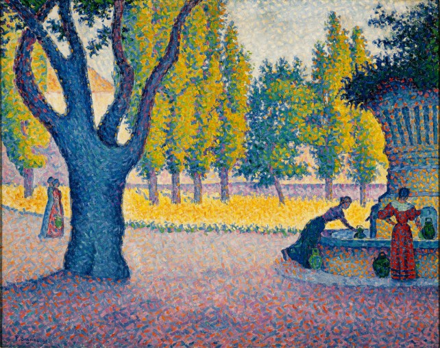 Paul Signac - Saint-Tropez, Fontaine des Lices, 1895.