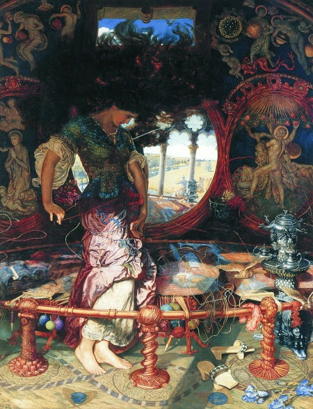 William Holman Hunt et Edward Robert Hugues - The lady of Shalott, 1905.jpg