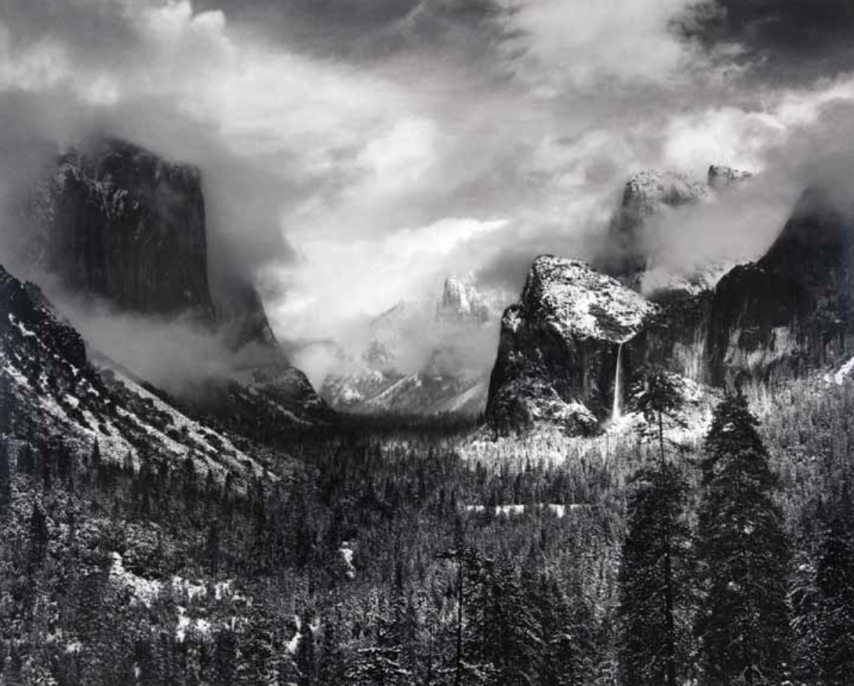 Ansel Adams, Clearing Winter Storm, Yosemite Valley, California, ca. 1937