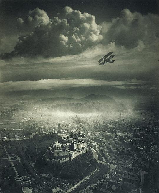 Alfred G. Buckham, Aerial view of Edinburgh.jpg