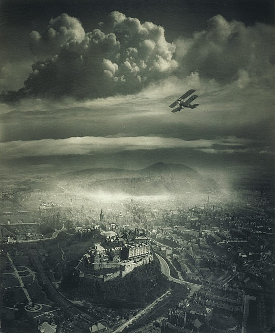 Alfred G. Buckham, Aerial view of Edinburgh.jpg