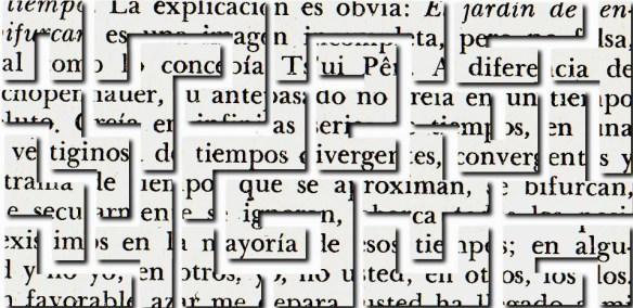 Laura Nillni - Découpage sur des pages du Jardin aux sentiers qui bifurquent de Borges 'extait video)