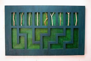 Laura Nillni - Grand Labyrinthe bleu, 2004.png