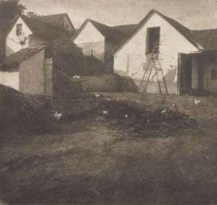 Rudolf Koppitz - Bâtiments de ferme, vers 1914