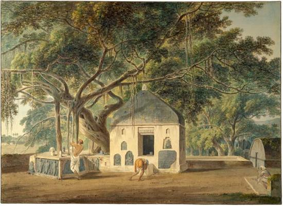The Sacred Tree of the Hindoos at Gyah, Bahar, March 1790