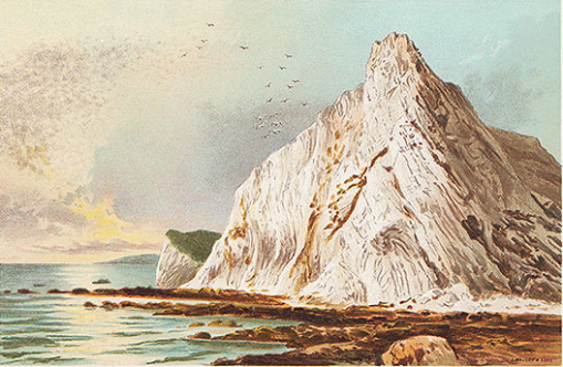 Culver Cliff, Isle of Wight - chromolithograph published by T. Nelson and Sons in 1892