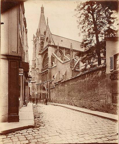 Eugène Atget - Rue des Prêtres-Saint-Séverin, 1898