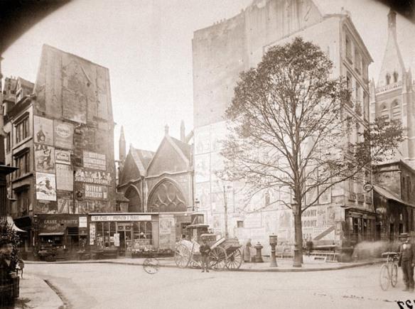 Eugène Atget - rue saint séverin rue saint jacques vers 1900