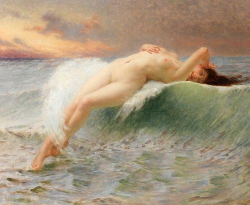 Guillaume Seignac - la vague, vers 1907