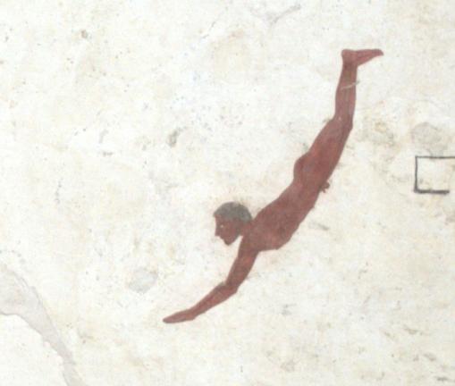 le plongeur de Paestum, fresque mortuaire.png