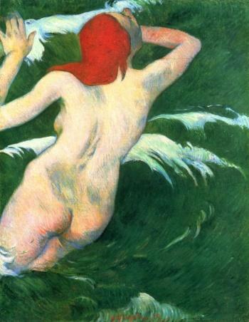 Paul Gauguin - Dans les vagues ou Ondine, 1889