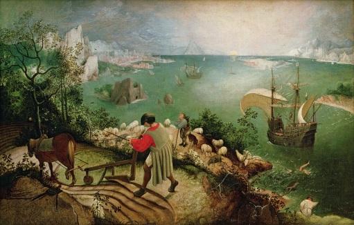 Pieter Bruegel l'ancien - Paysage avec la chute d'Icare, 1558.