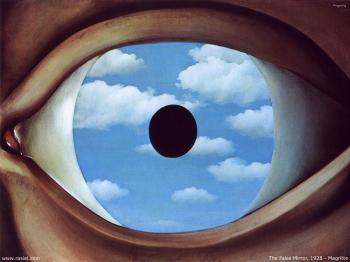 René Magritte - The False Mirror, 1928