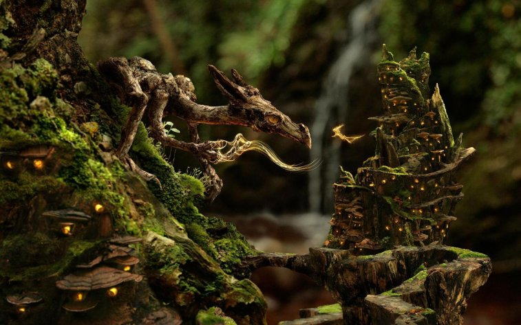504101-dragons-fairies-forests-jungle-mushrooms-nature-phil-mcdarby-photo-manipulation-pixies-trees-upscaled-waterfalls